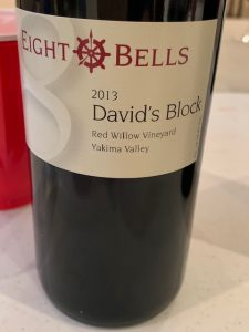 Eight Bells 2013 David's Block is named for David Lake, Washington wine legend.