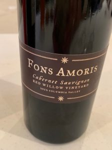 Lady Hill 2012 Fons Amoris Cabernet Sauvignon is from clones at Red Willow VIneyard.