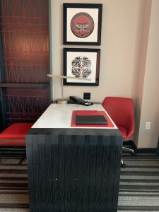 Desk in hotel room at Tulalip Resort Casino