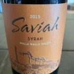 Saviah Cellars 2015 Syrah